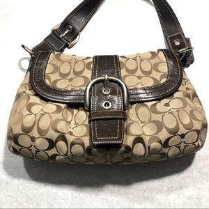 Coach Signature Shoulder Bag.